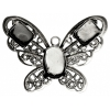 Filigree Pendant Setting32x42mm Butterfly Antique Silver